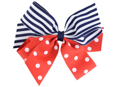 Ole Miss Rebels Polka Dot/Stripe Combo Bow