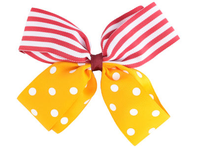 Iowa State Cyclones Polka Dot/Stripe Combo Bow