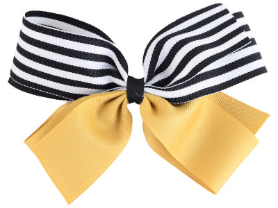 Purdue Boilermakers Polka Dot/Stripe Combo Bow
