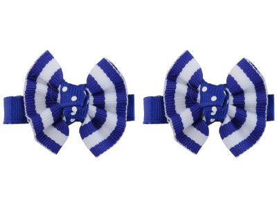 Kentucky Wildcats Clip Pair Ruffled Stripe