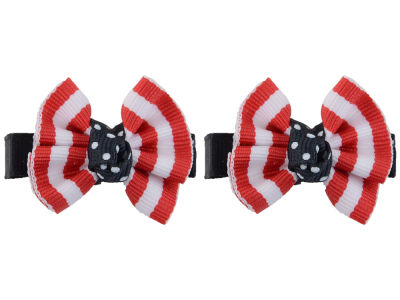 Louisville Cardinals Clip Pair Ruffled Stripe