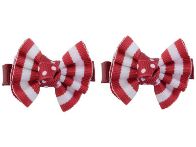 Oklahoma Sooners Clip Pair Ruffled Stripe
