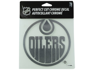 Edmonton Oilers Chrome Decal 6x6
