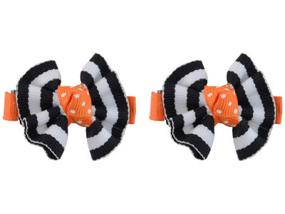 Oklahoma State Cowboys Clip Pair Ruffled Stripe