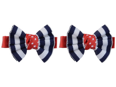 Ole Miss Rebels Clip Pair Ruffled Stripe