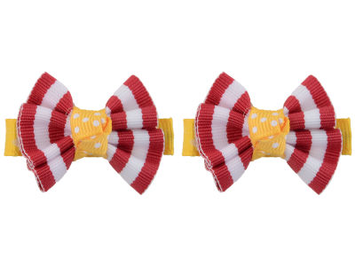 Iowa State Cyclones Clip Pair Ruffled Stripe