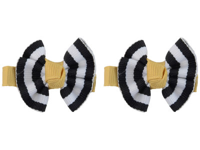 Purdue Boilermakers Clip Pair Ruffled Stripe