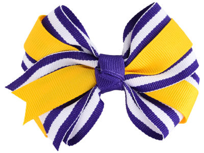 LSU Tigers Two Tone Fluff with Knot