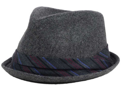 LIDS Private Label Wool Blend Porkpie w/ Single Pleat Striped Band