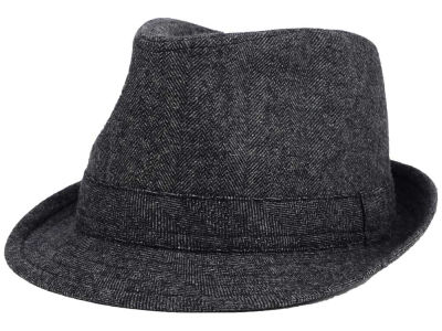 LIDS Private Label Light Grey Herringbone Fedora