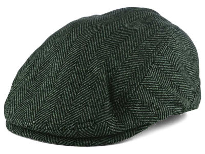 LIDS Private Label Wool Blend Black & Grey Herringbone Ivy Hat