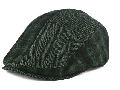 LIDS Private Label Black Patchwork Flat Cap