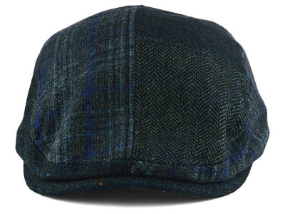 LIDS Private Label Navy Patchwork Flat Cap
