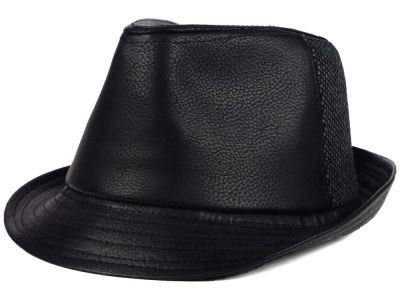 LIDS Private Label Leather Brim/Wool Panel Trilby
