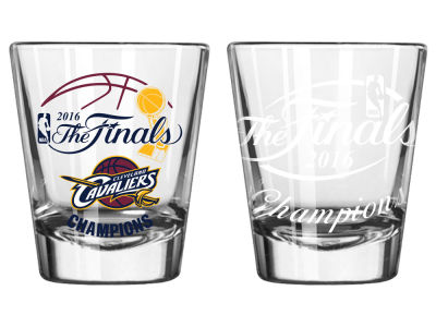 Cleveland Cavaliers 2016 NBA Finals Champs Satin Etch Shot Glass - EVENT