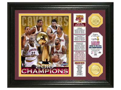 Cleveland Cavaliers 2016 NBA Finals Champs Banner Silver Coin Photo