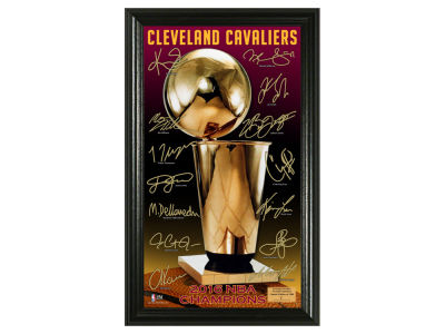 Cleveland Cavaliers 2016 NBA Finals Champs Photo Mint - Signature Trophy - Event