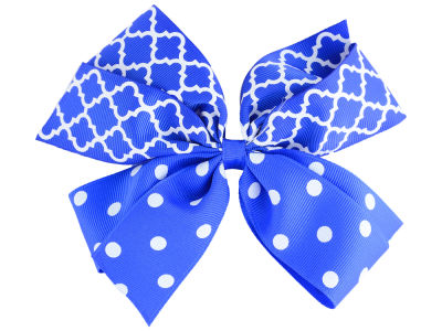 Kentucky Wildcats Polka Dot/Quatrefoil Combo Bow