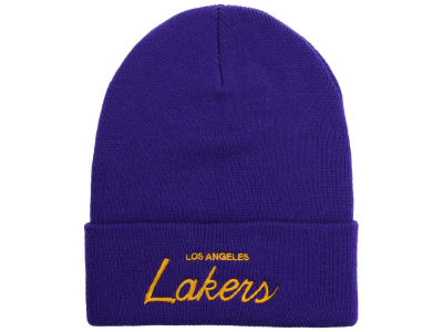 Los Angeles Lakers Mitchell and Ness NBA Old Cool Knit