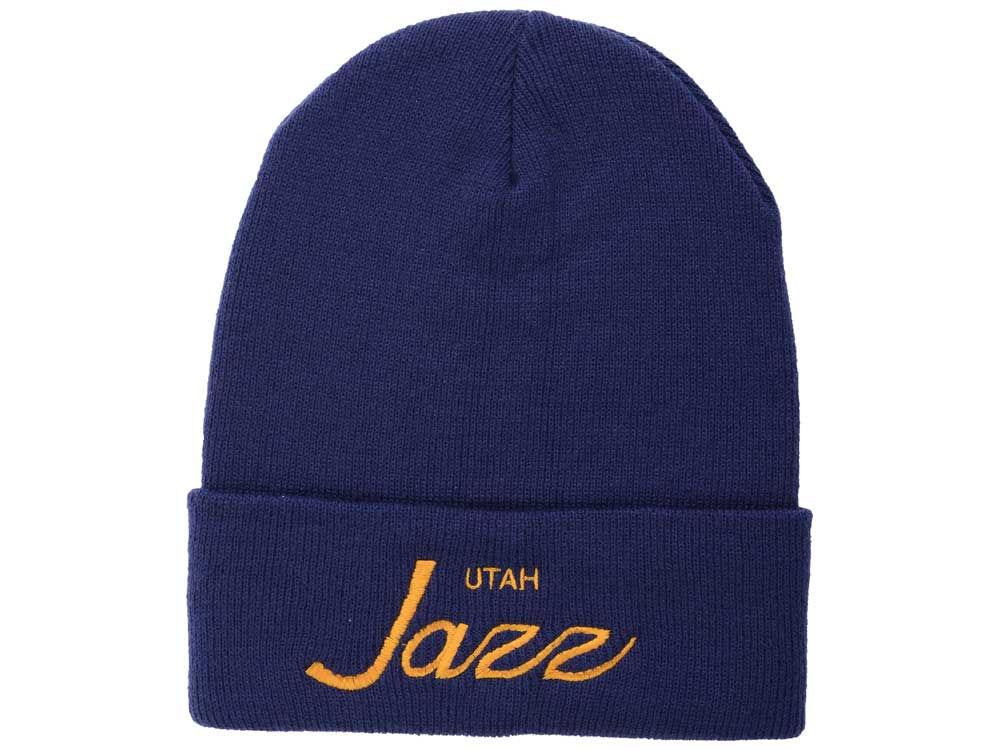 Utah Jazz Mitchell   Ness NBA Old Cool Knit  1d1fe1b5045