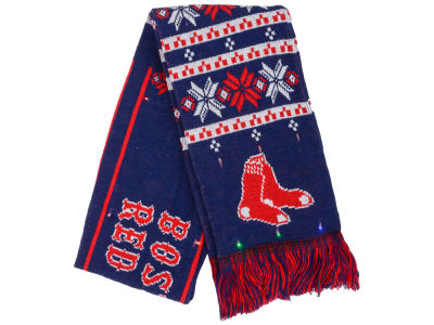Boston Red Sox Forever Collectibles Light Up Ugly Sweater Scarf