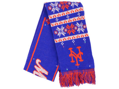 New York Mets Light Up Ugly Sweater Scarf