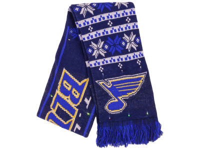 St. Louis Blues Light Up Ugly Sweater Scarf