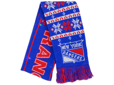 New York Rangers Light Up Ugly Sweater Scarf
