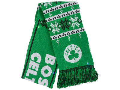 Boston Celtics Light Up Ugly Sweater Scarf