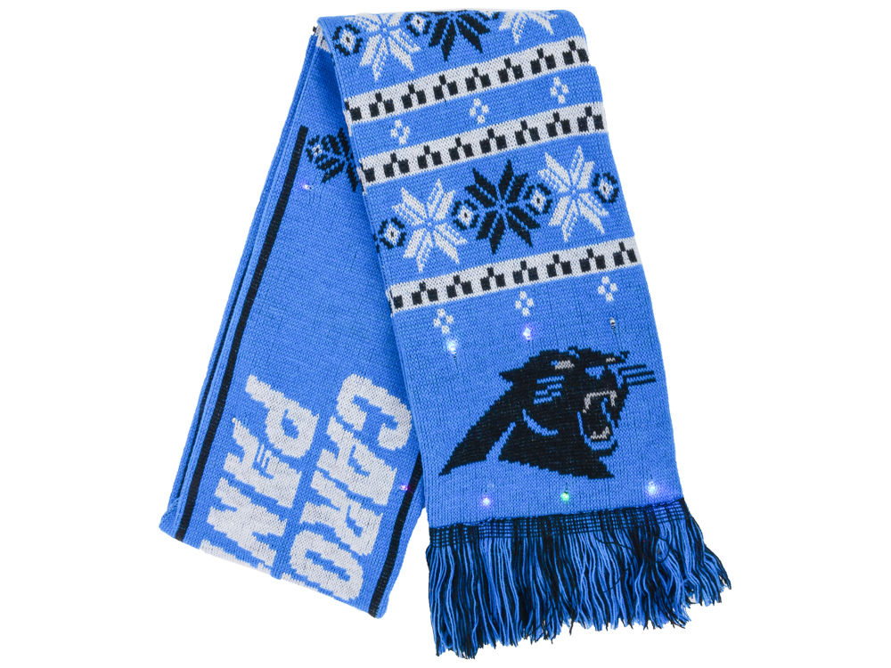 Carolina Panthers Forever Collectibles Light Up Ugly Sweater Scarf