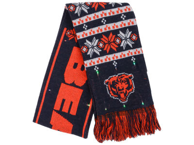 Chicago Bears Light Up Ugly Sweater Scarf