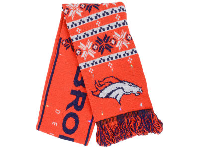Denver Broncos Forever Collectibles Light Up Ugly Sweater Scarf