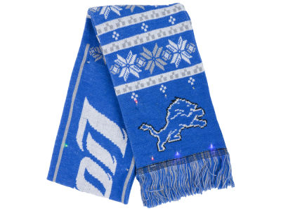 Detroit Lions Light Up Ugly Sweater Scarf