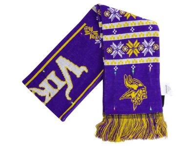 Minnesota Vikings Forever Collectibles Light Up Ugly Sweater Scarf