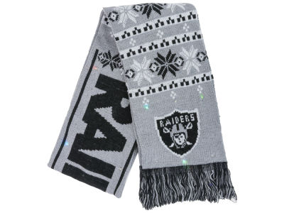 Oakland Raiders Light Up Ugly Sweater Scarf