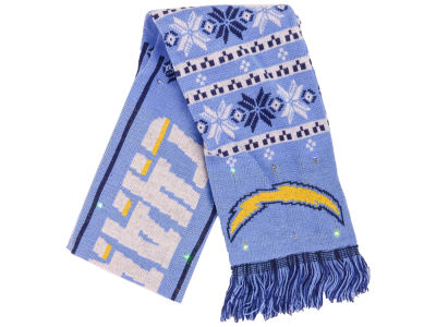 San Diego Chargers Forever Collectibles Light Up Ugly Sweater Scarf