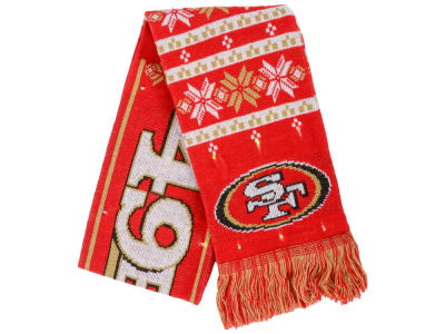 San Francisco 49ers Light Up Ugly Sweater Scarf