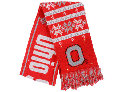 Ohio State Buckeyes Light Up Ugly Sweater Scarf