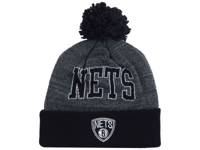 Brooklyn Nets Mitchell and Ness NBA Black Board Knit