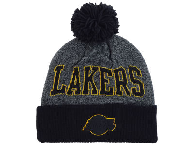 Los Angeles Lakers Mitchell and Ness NBA Black Board Knit