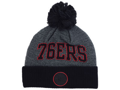 Philadelphia 76ers Mitchell and Ness NBA Black Board Knit
