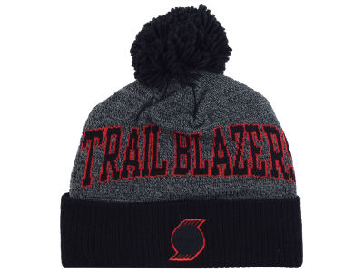 Portland Trail Blazers Mitchell & Ness NBA Black Board Knit