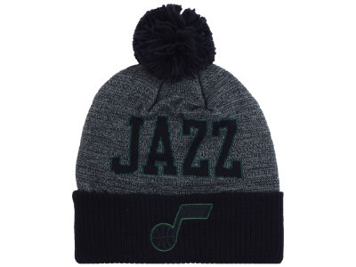 Utah Jazz Mitchell and Ness NBA Black Board Knit