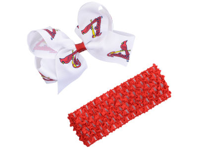 St. Louis Cardinals Crocheted Headband With Jr Bow