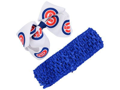 Chicago Cubs Crocheted Headband With Jr Bow
