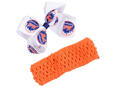 New York Mets Crocheted Headband With Jr Bow