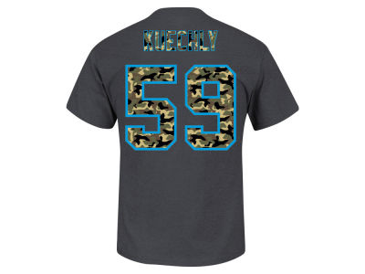 Carolina Panthers Luke Kuechly Majestic NFL Men's Camo Eligible Receiver T-Shirt