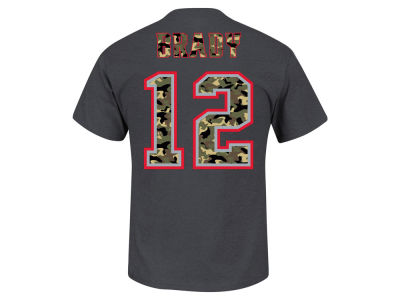 New England Patriots Tom Brady Majestic NFL Men's Camo Eligible Receiver T-Shirt