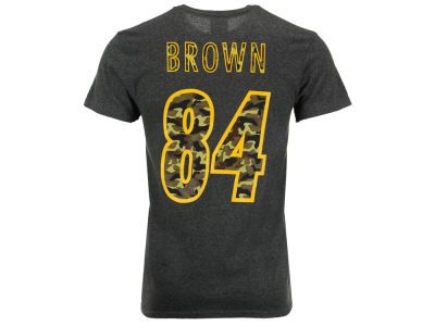 Pittsburgh Steelers Antonio Brown Majestic NFL Men's Camo Eligible Receiver T-Shirt
