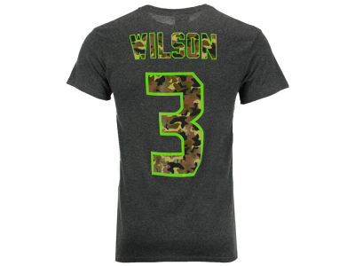 Seattle Seahawks Russell Wilson Majestic NFL Men's Camo Eligible Receiver T-Shirt